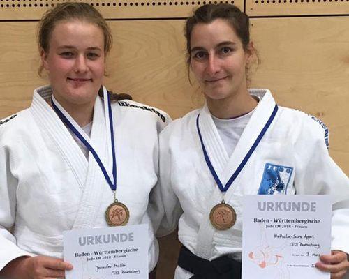 Jennifer Müller und Nathalie Appel Dritte bei Landesmeisterschaften