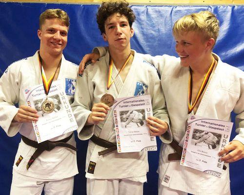 Dreimal Bronze für TSB Judoka im Glaspalast