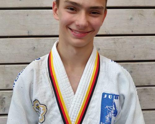 TSB Judoka Konstantin Lehmann ist Süddeutscher Vizemeister